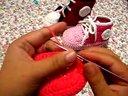 温暖你心毛线店 第125集-足球鞋的做法 手工编织宝宝儿童鞋 毛线钩针棒针教程针法免费视频教程