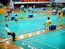 2012佛山小学生羽毛球锦标赛小组赛第一场李沛丰(白红色)胜王凝