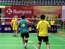 李建国在VIP组比赛中  第十九届红牛全球华人羽毛球锦标赛