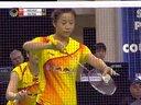 羽毛球知识教学网 2012法国羽毛球超级赛女双决赛 彼得森尤尔VS马晋汤金华