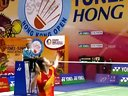 新浪微博@羽球南方淘宝店V 2012年香港羽毛球公开赛女单决赛 李雪芮VS王仪涵