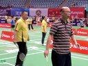 郭晓宏 扇子在赛场  第十九届红牛全球华人羽毛球锦标赛