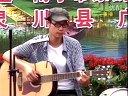 周瑞霆 江头美 广西电视台采访演出 话筒雨湿后有点不连续