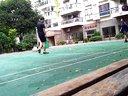 水泥地 狂风 下雨 打羽毛球20130719