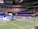 2013日本羽毛球公开赛男单决赛 战术视角 李宗伟-田儿贤一