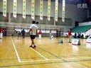 首都机场羽毛球比赛重庆对湖北  上