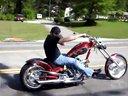 Texas Chopper定制摩托车 公路试车