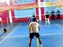 上海羽毛球大师群球王双打对抗