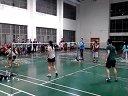 上海交通大学体总杯羽毛球半决赛混双船建VS电院  最后精彩三球
