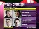 2008年威尔士公开赛第三轮 奥沙利文VS史蒂夫·戴维斯 1