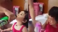 女童尝酒后拒喝奶粉愁坏老爸
