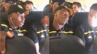 """""""小黑哥""""坐飞机紧张到晕倒"""