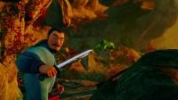 西游记之大圣归来 凶猛山妖袭击队伍 将村民甩下山崖