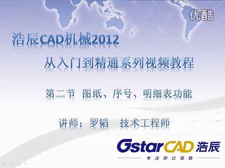 浩辰CAD结果2012之CAD表格图纸机械显示实在cad上数据提取图片