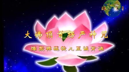 《楞严咒》快诵完整版(高清晰字幕)(缘聚禅莲恩师徒儿背诵)