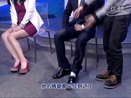 视频 皮鞋/帅气正装男模黑皮鞋配白袜子part2