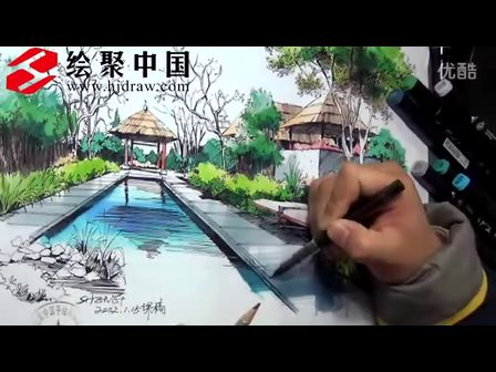 郑州手绘培训绘聚中国徐志伟景观马克笔表现