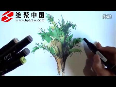 郑州手绘培训—绘聚中国徐志伟景观单体马克笔表现