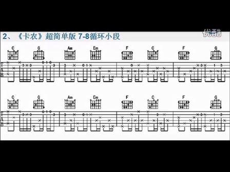 Kevin 吉他教学 第二十二课 指弹经典 《卡农》 超简单版 第一部分