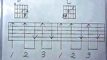 吉他入门第七讲扫弦练习歌曲《痛哭的人》·第一季