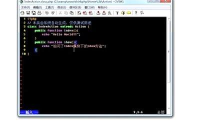 2.ThinkPHP 3.1.2 MVC模式和URL访问