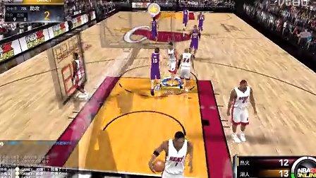 NBA2K OL 热火虐湖人
