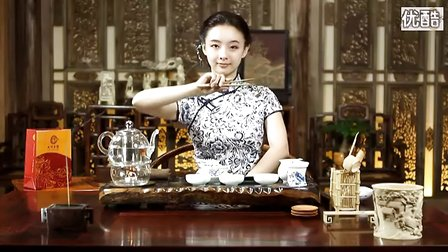 90后美女黑茶茶艺表演
