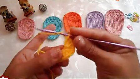 特别详细的宝宝鞋鞋底的钩法