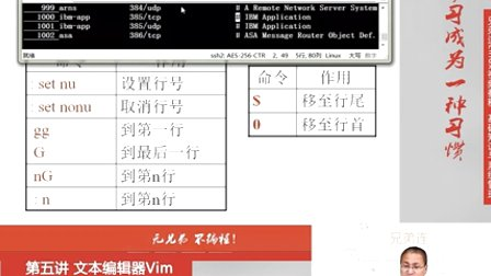 兄弟连Linux视频 5.1.文本<font style='color:red;'>编辑器</font>Vim-Vim常用操作