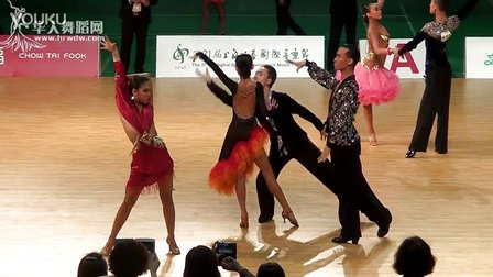 2014年CBDF中国杯巡回赛上海站甲B组L第一轮伦巴董霄汉 孙祯黛00304