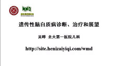 脑白质病的分类、诊断、治疗和展望-北大妇儿吴晔