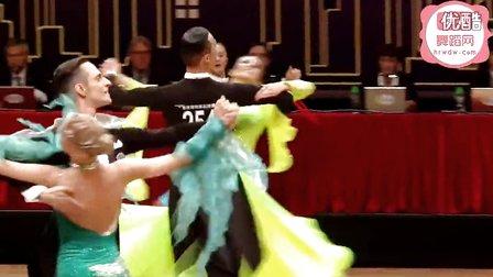 2014年WDSF世界体育舞蹈公开赛香港摩登舞半决赛维也纳华尔兹Nikitin - Spitsyna
