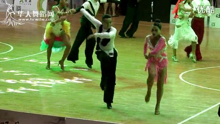 2014年第12届全国青少年体育舞蹈锦标赛21岁以下组B级赛缅甸万丰国际老百胜半决赛牛仔张艺林 周杏