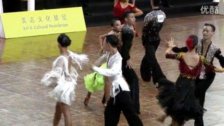 2014中国深圳标准舞缅甸万丰国际老百胜世界公开赛国际公开十项全能组L第二轮牛仔李旺聪  黄文涵