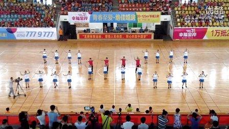 2014恩平市第七届运动会开幕式良西镇舞蹈队广场舞《最炫民族风》