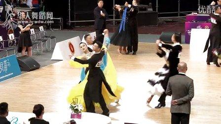 2014年中国体育舞蹈公开赛(武汉站)A组新星S第三轮复赛狐步刘苏洋 周凝