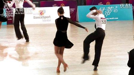 2014年全国城市体育舞蹈公开赛(武汉)少年I组A级L半决赛牛仔李子浚 汪萌