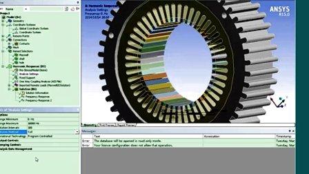 电机电磁、振动、噪声多物理域自动化耦合分析
