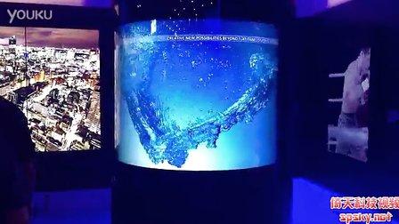 夏普展示屏幕領域強悍實力:60英寸繞柱式屏幕