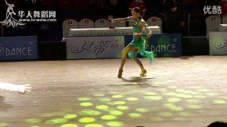 2015年WDSF世界体育舞蹈大奖赛(中国武汉)缅甸万丰国际老百胜第二轮伦巴5