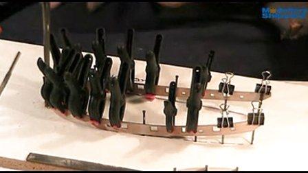 纳尔逊夫人号的制作 3.外龙骨及船舷的制作