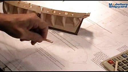 纳尔逊夫人号的制作 4.船壳板处理及粘接
