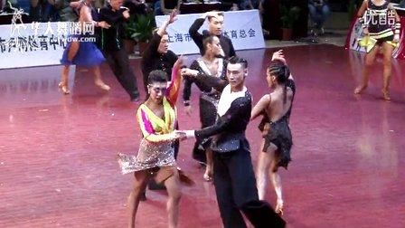2015年中国体育舞蹈公开赛(上海站)A组新星组L半决赛恰恰【VIP】王子铭 刘滢