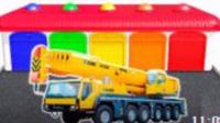 海綿小汽車 玩具視頻慣性汽車 挖掘機 挖土機 攪拌車 鏟車 吊車 大卡車 汽車總動員動畫片