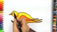 簡筆畫, 畫一只黃鸝鳥
