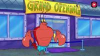 海绵宝宝: 虾霸开健身房免费体验, 贪小便宜的蟹老板闻讯而来