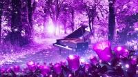 唯美浪漫森林鋼琴紫色高端婚禮