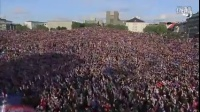 冰岛人欢迎他们的足球英雄回国