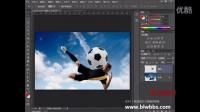 PS教程視頻 PS沖向天空的足球  部落窩 視頻聲音后期處理軟件
