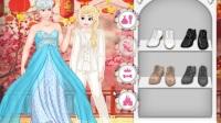 換裝 冰雪奇緣 公主 婚紗  迪士尼的特別婚禮